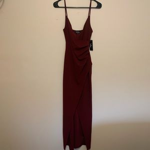 Lulus burgundy maxi dress